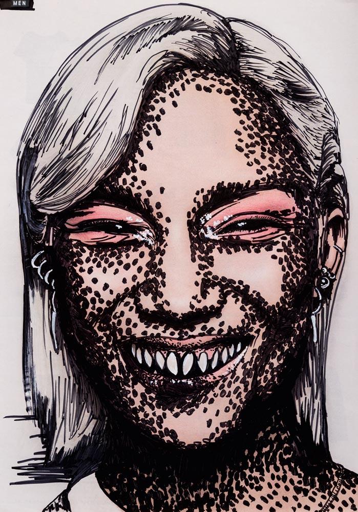Smiling depression, 70 ×100, 2020