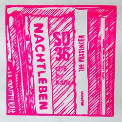 Pink Nightlife, 2021, 25x31 cm, edition of 10 + 2 AP - Linoprint