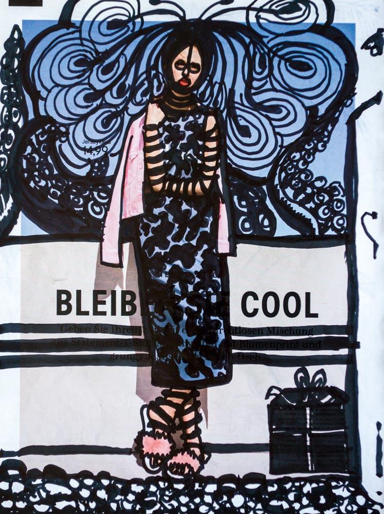 Bleib cool, 20 ×26.5, 2018