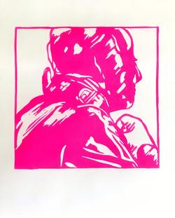 Bernd,2021; edition of 10 + 2AP, 25x31cm, linoprint