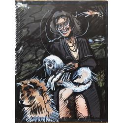 Lola, 2021. 21x27,5cm marker on paper