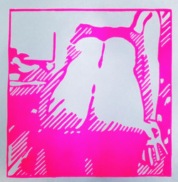 Outside there is still sunshine; edition of 10 + 2AP, 25x31cm, linoprint