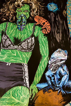 Bugs and girls, 500 ×120, 2020