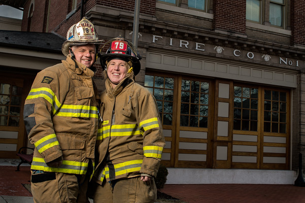John Truman Chief 19 & Firefighter Karen Truman