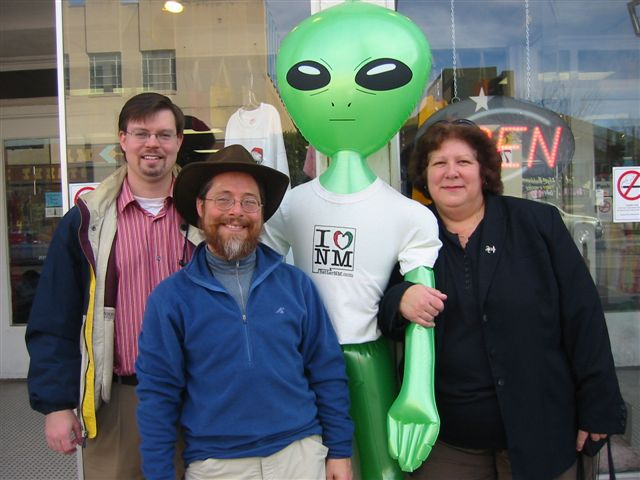 Meeting the locals in Roswell
