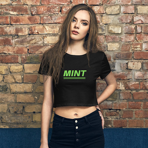 Mint - Women's Crop Tee