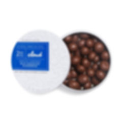 Cloud Confections cannabis edibles Milk Chocolate Blueberries utilising Packed LLC stock packaging known as The Puck
