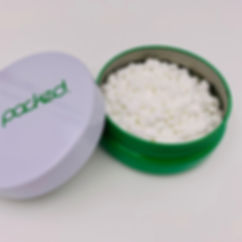 The Puck cannabis packaging - child resistant tin, plastic free, 100% recyclable