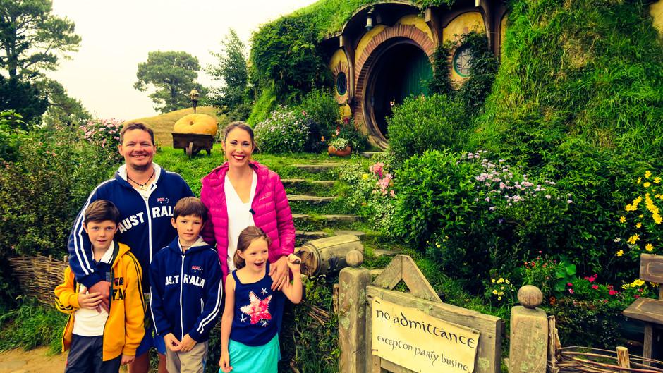 Hobbiton, découverte des grottes de vers luisants, du Mont Victoriat et de Devenport.