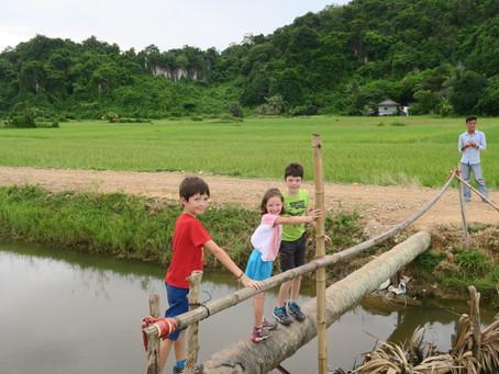 2 jours à Kampot avec des enfants, ville au sud du Cambodge, spécifique pour son célèbre poivre.