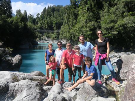 Nos 2 derniers jours en NZ, découverte de Fox glacier et des gorges d'Hokitika.