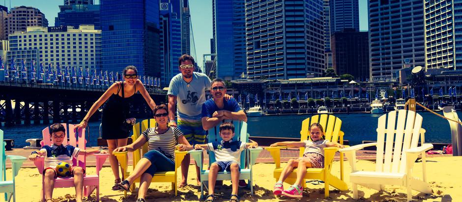 Bilan et budget pour une famille durant ce mois Australien.