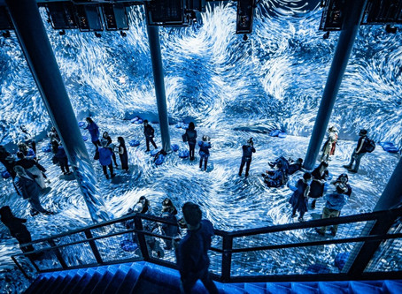 Interact with Digital Art at Home with the Exploration of Blue