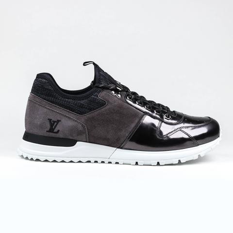 3e28f01d984d LOUIS VUITTON CHARCOAL PATENT RUN AWAY SNEAKER