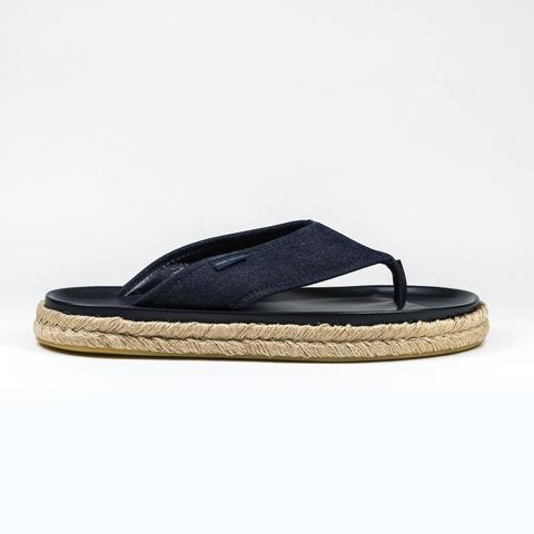 333eb866dd86 LOUIS VUITTON EVERGLADE DENIM BLUE THONG SANDAL