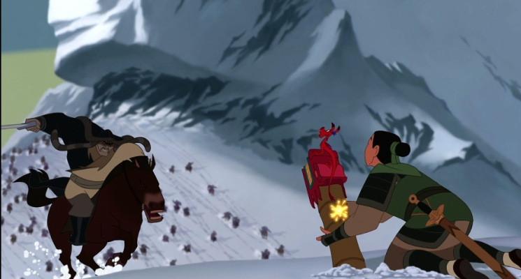 Gengis Khan Depicted by the cartoon Mulan