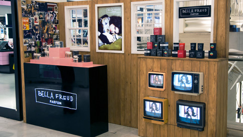 BELLA FREUD PROMOTIONAL FRAGRANCE COUNTER AND PR LAUNCH