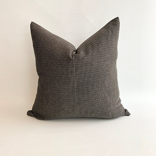 Black and Grey Stripe Cushion