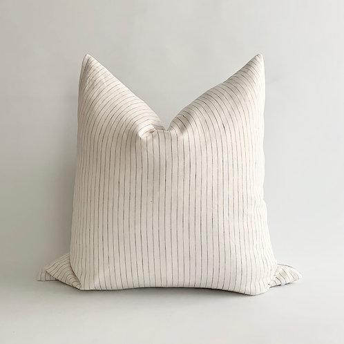 Pinstripe Linen Cushion