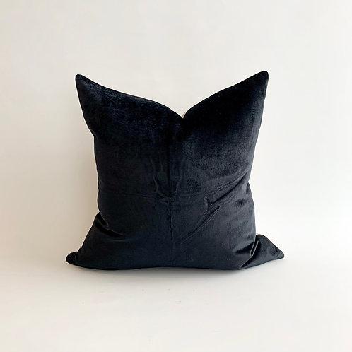 Black Velvet with Linen Reverse