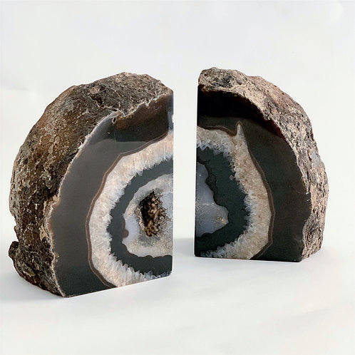 Agate Bookend Pair 01