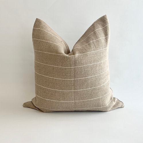 Wheat and White Stripe Cushion