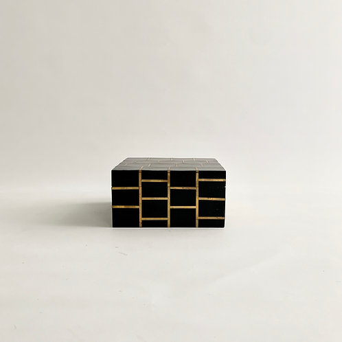 Black and BrassInlay Box