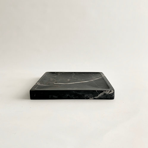 Square Black Marble Tray