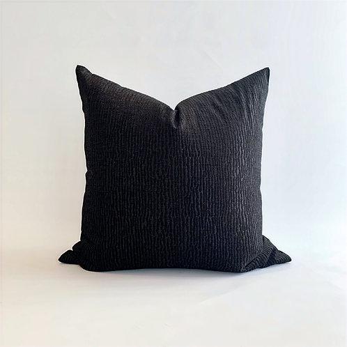 Black Ripple Cushion