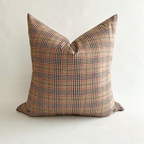 Neutral Plaid Cushion