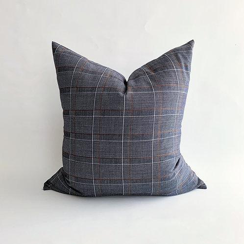 Blue Plaid Cushion