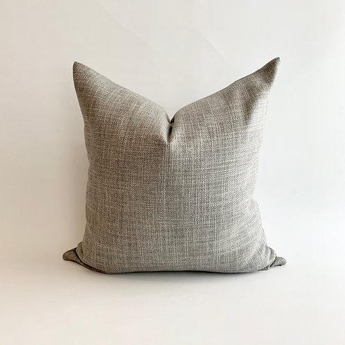 Silver Basketweave Cushion
