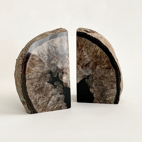 Agate Bookend Pair 03