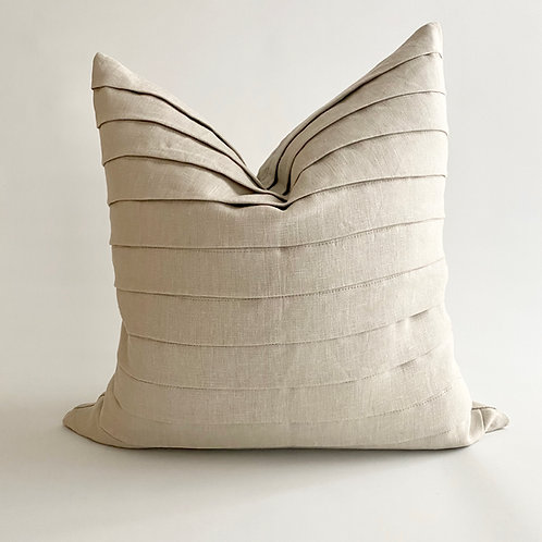 Oatmeal Linen Fold Cushion