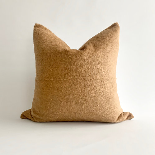 Tan Wool Cushion