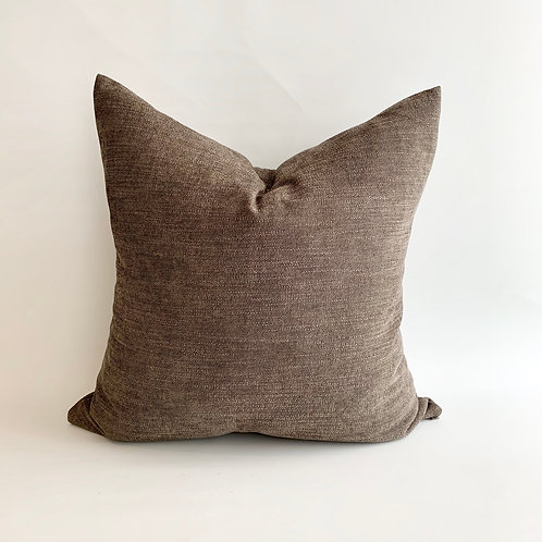 Pewter Woven Cushion