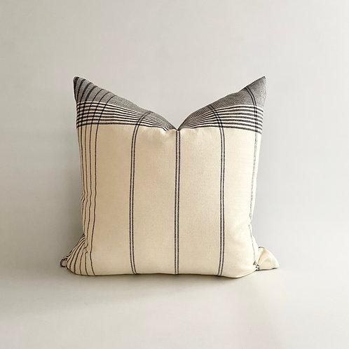 Black and Cream Woven Cushion