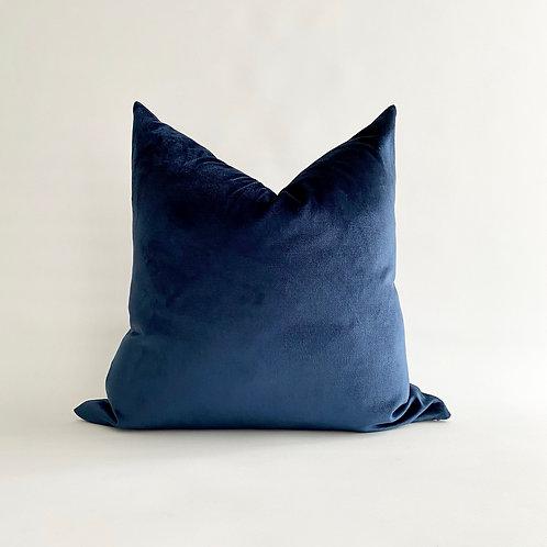 Electric Blue Velvet Cushion