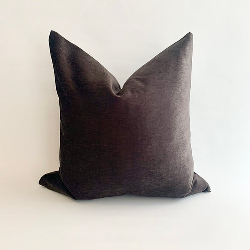 Chocolate Chenille Cushion