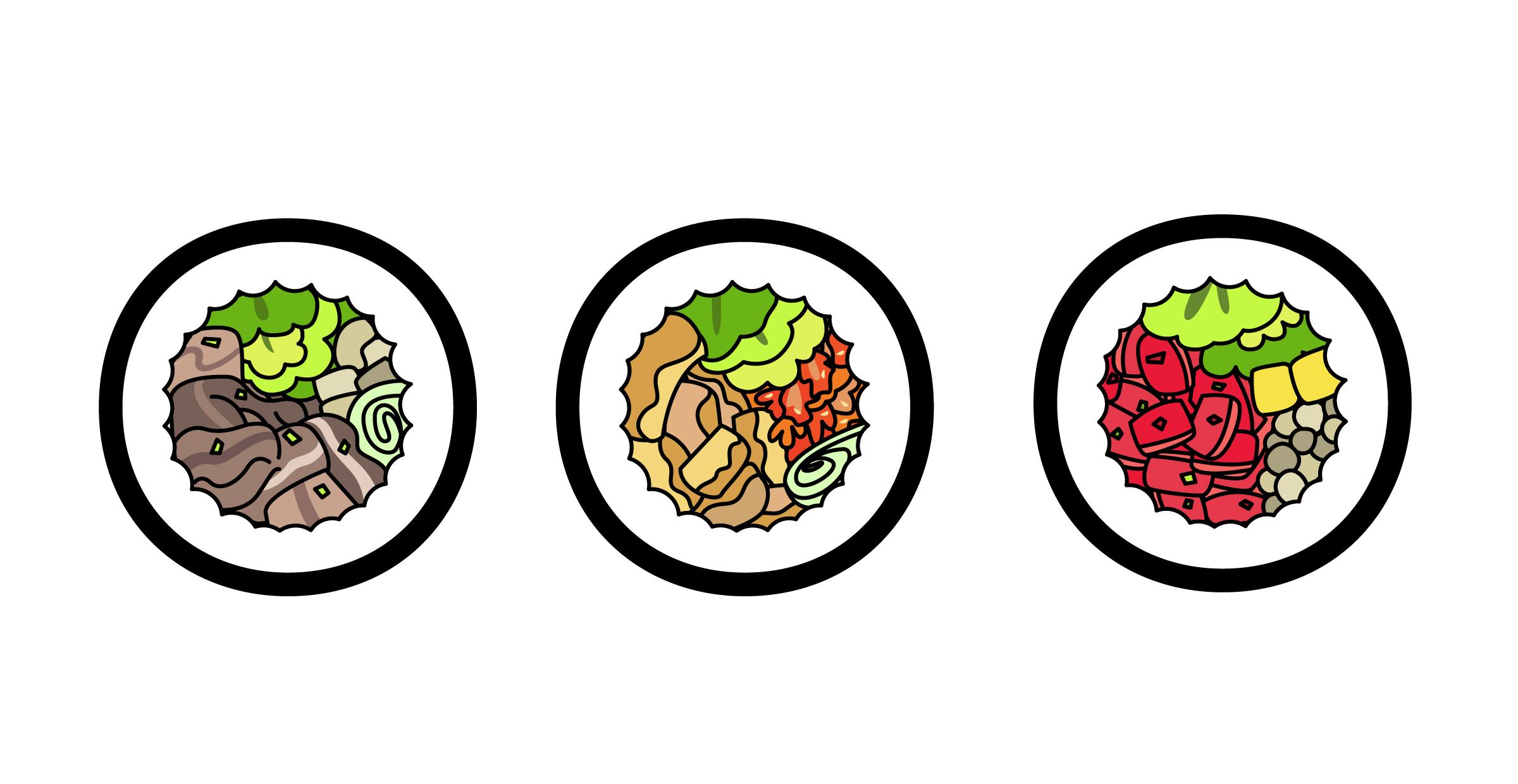 김밥 단면