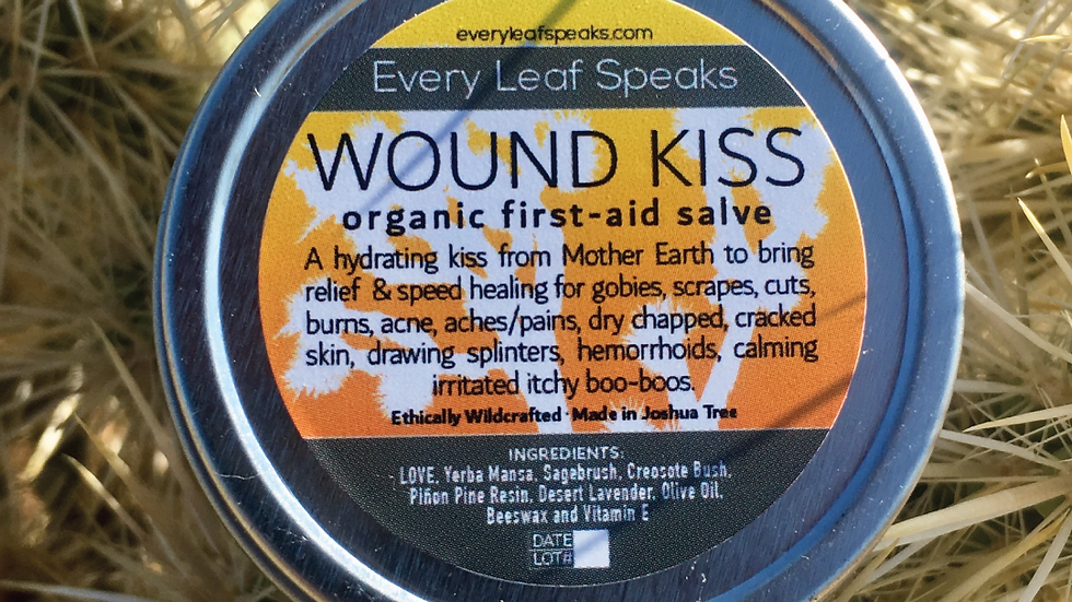WOUND KISS Organic First-Aid Salve