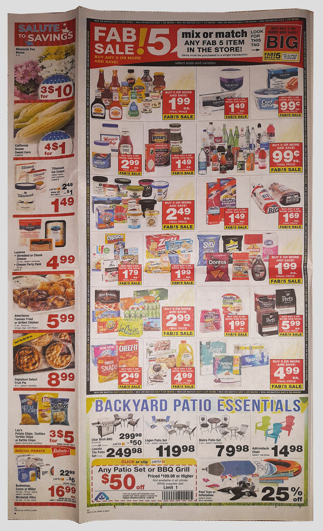 Fab 5 Weekly Newspaper Page