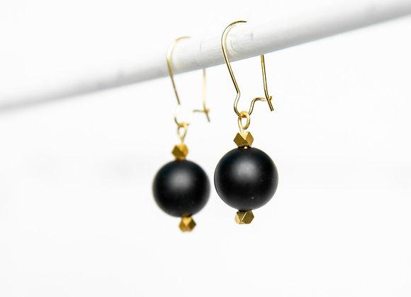 Onyx Orb Earrings