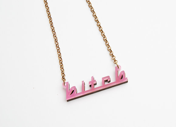 lowercase bitch necklace