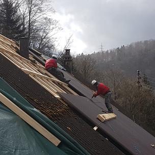 Dach in Arbeit