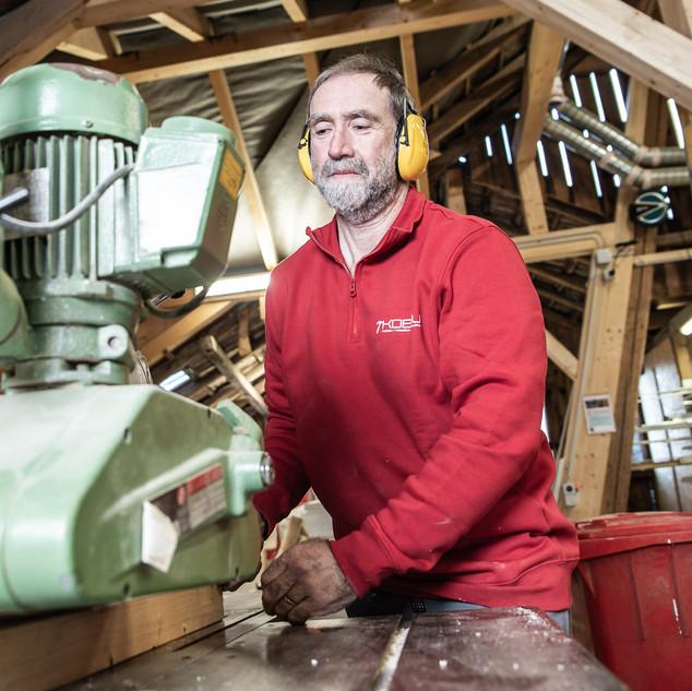 Walter Hürlimann bei der Arbeit