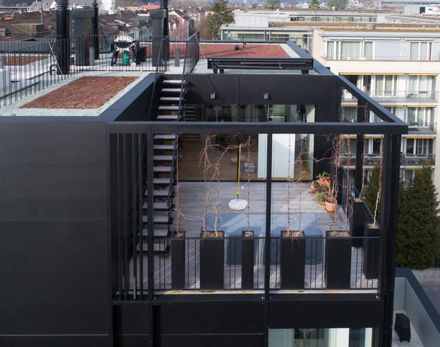 Balkonaufbau in Zusammenarbeit mit Koller Metallbau erstellt.