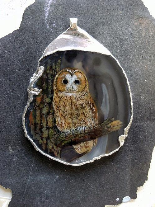 Large Tawny Owl pendant