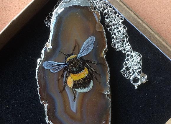 Large bumble bee pendant