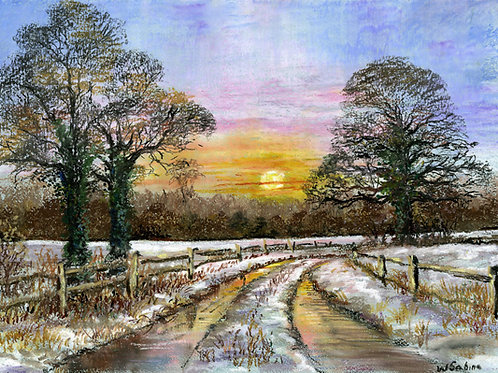 Snowy Lane on Oxney